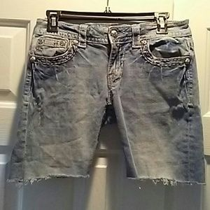 Miss me jeans cut off into shorts